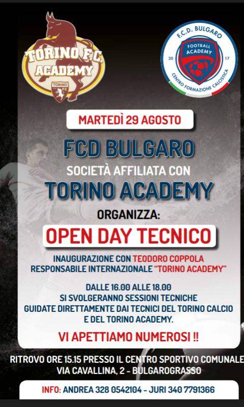29/11 OPEN DAY TECNICO